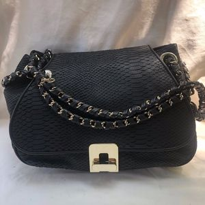 Reiss black leather snakeskin  purse